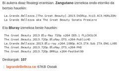 Azpitituluak euskaraz: bertsioak