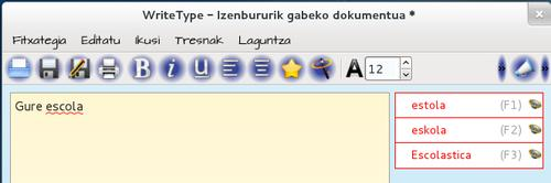 WriteType euskaraz
