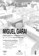 Miguel Garairi buruzko erakusketa-kartela