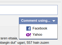 Facebook Sustatun, beste login bat