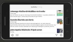 Google Currents, android horizontala