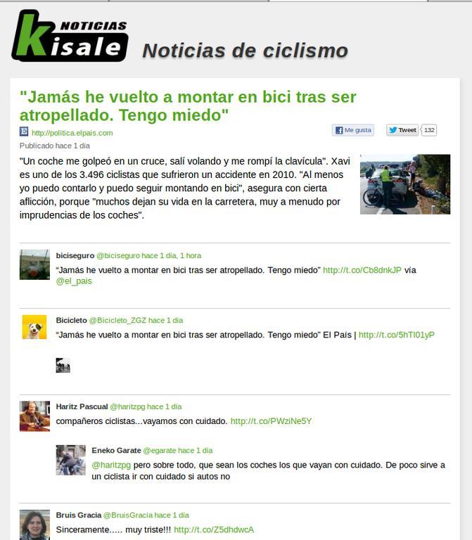 Kisale Noticias, albiste bat