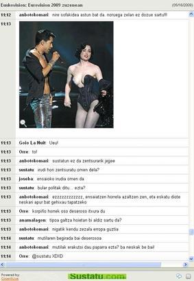 Euskovision zuzeneko liveblogging emanaldikoa