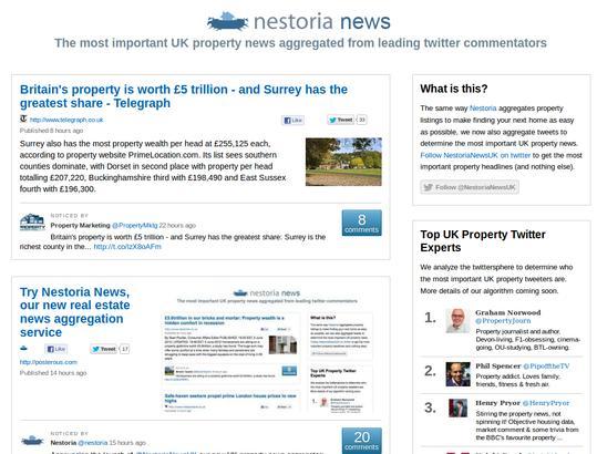 Nestoria News